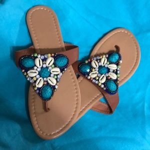 Shoes - NWOT size 8 sandals. Summer ready